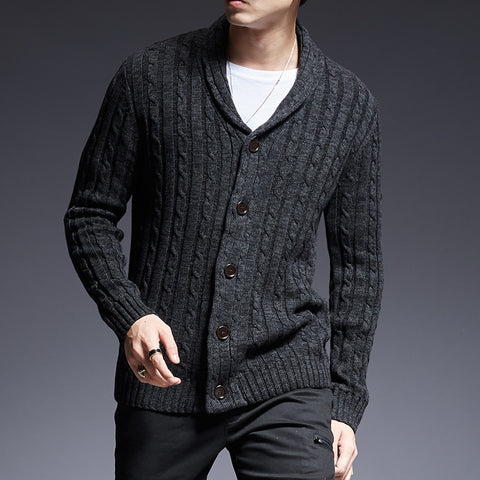 Brand Sweater Man Cardigan Thick Slim Fit Jumpers Knitwear High Quality Autumn Casual Mens Clothes - Moolokai Apparel