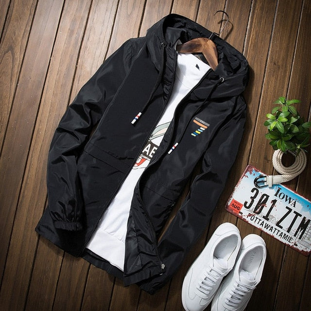 Autumn jacket thin jackets casual lover jacket hip hop windbreaker hooded jacket coat zipper parka