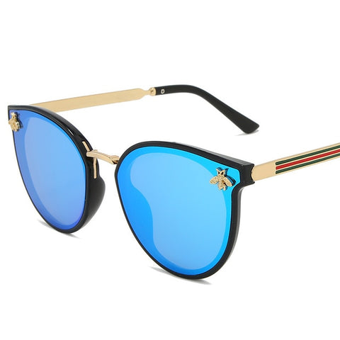 Luxury bee Fashion for women Sunglasses Men Square Brand Design Sun Glasses Oculos Retro male iron
