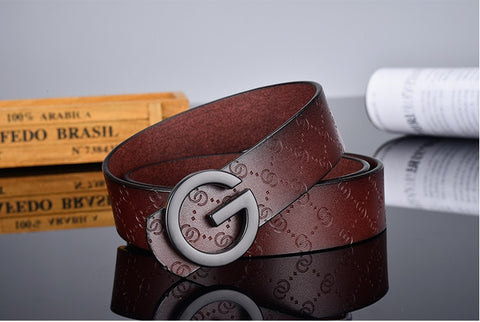 G smooth buckle belt luxury belts Cowhide Genuine designer high quality fashion vintage strap