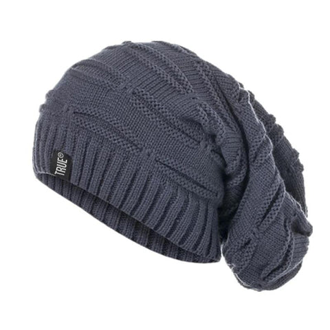 True Letter Winter Hat Long Size Knitted Cap High Quality Casual Beanies For Men & Women Solid Bonnet Cap