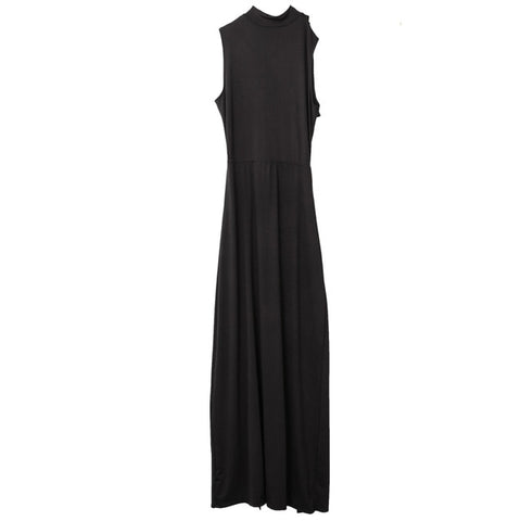 New Sexy Women Summer Bandage Hollow Out Dress High Waist Solid Black Ladies Split Party Dress Club Wear