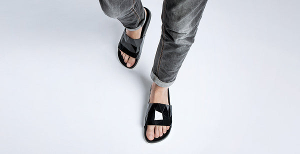 United Nude Lo Res Earth Vegan Black on Model