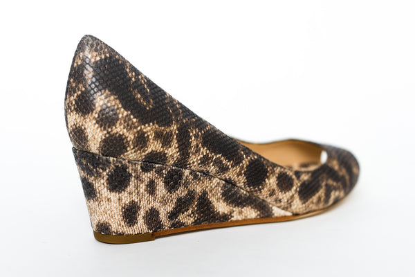 Fabio Rusconi Delfina Sahara Lizard Print Wedge - back view
