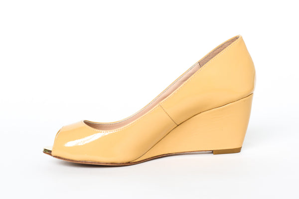 Lucy Choi London Ivy Beige Patent Wedges