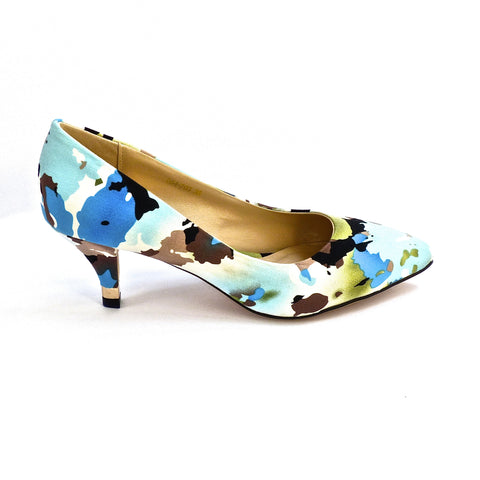 Sole 2 Sole Blue Multi Heels - side