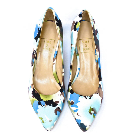 Sole 2 Sole Blue Multi Heels