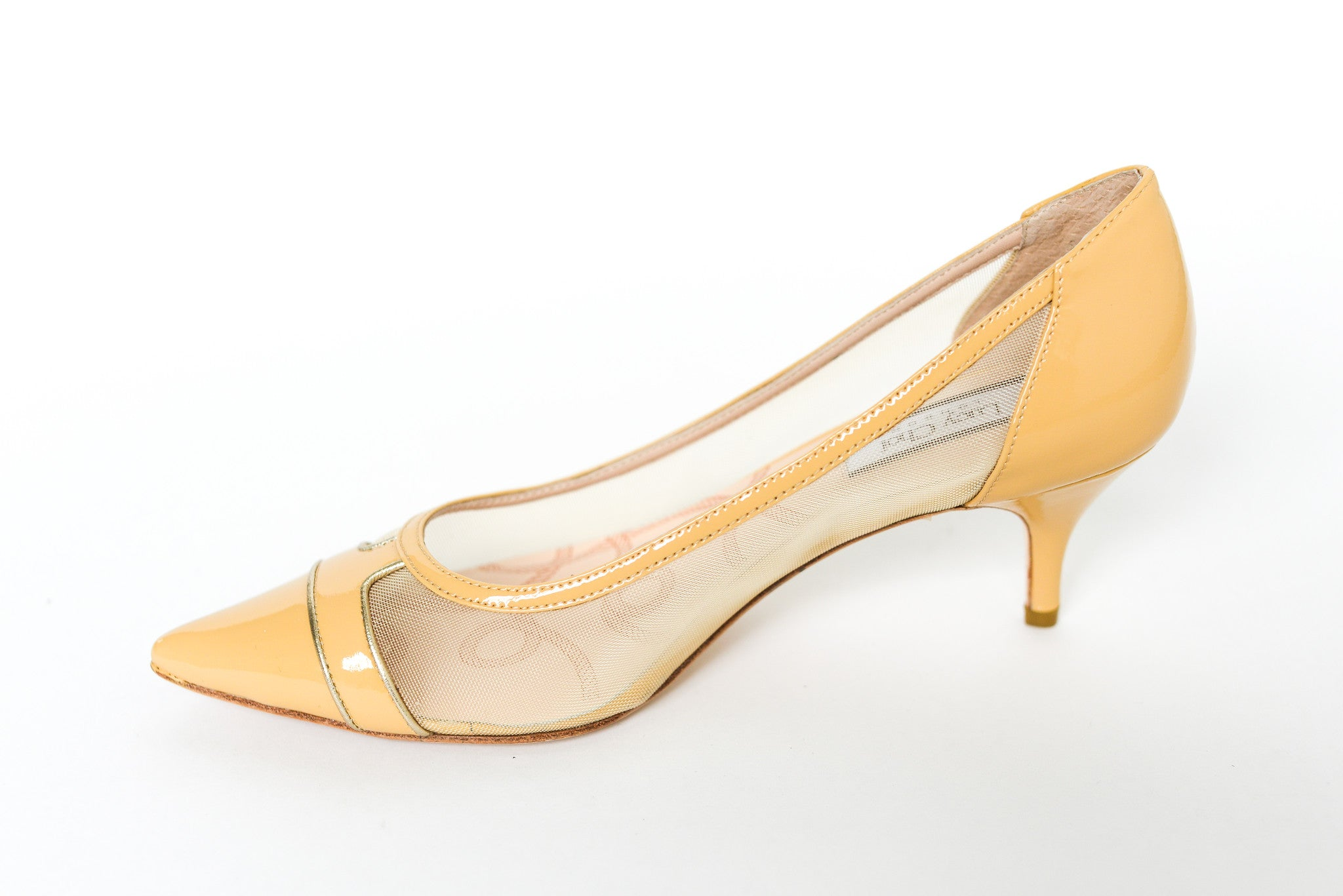 Lucy Choi London Lily Nude Mesh Patent Pump
