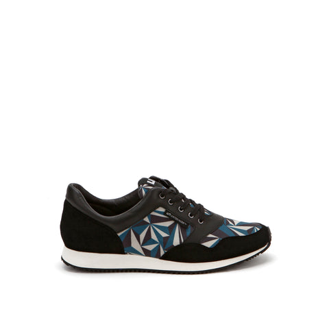 United Nude Runner Crystal Snorkel Blue Beige Black in Printed Neoprene