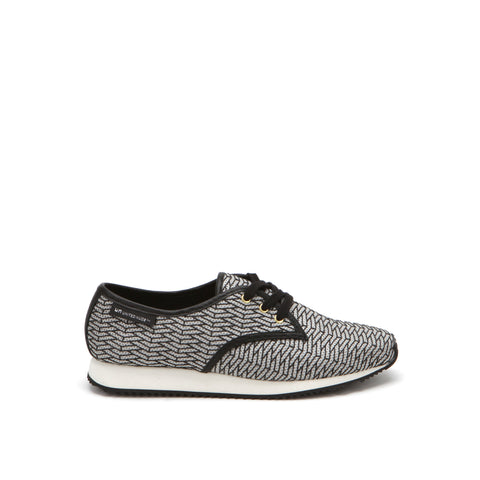 United Nude Runner Derby Black on Pistacchio Riz