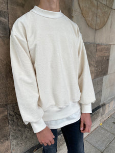 Cream Heavyweight Sweatshirt.