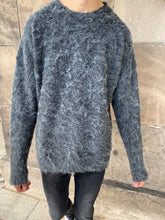 Load image into Gallery viewer, Grey Mohair Knit Sweatshirt.