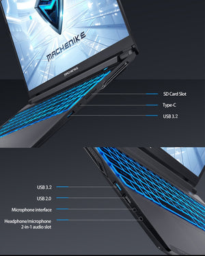 Machenike T58-VB i7 Gaming Laptop 2020 i7 10750H GTX 1650Ti 8GB RAM 512G SSD 15.6'' Ultra border IPS i7 notebook Metal A shell