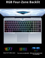 Machenike F117-V65 2020 Gaming Laptop i7 10750H GTX 1650Ti 4G 144hz IPS 72% NTSC 8G 512SSD Win10 Laptops Backlit RGB Keyboard