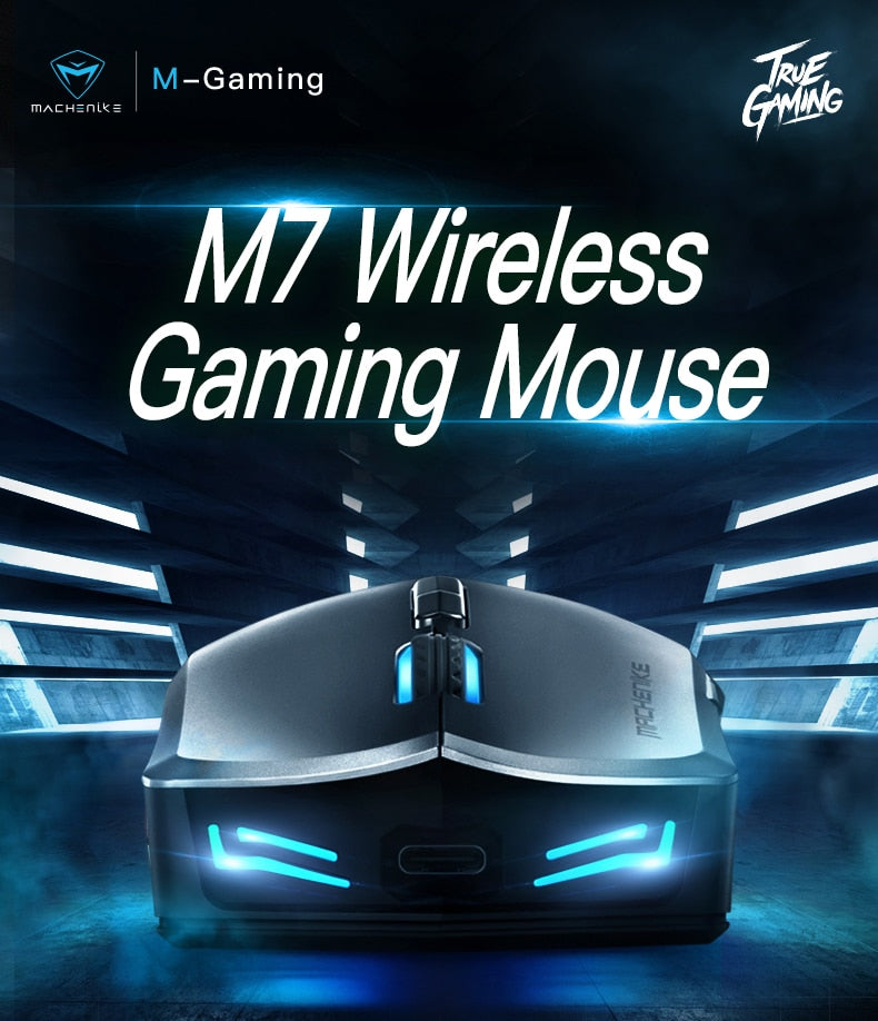 Machenike M7 wireless mouse gaming mouse 16000 DPI OMRON RGB backlight Programmable rechargeable PMW3212/PMW3335 computer mouse
