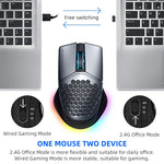 Machenike M8 gaming mouse wireless mouse wired dual mode computer mouse PMW3335 16000DPI Programmable Hollow Design only 85g
