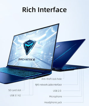 "Machenike F117-FPD RTX 2060 Gaming Laptop i7 10750H Intel 144hz Laptops 16GB 512SSD 1T 17.3"" NTSC IPS i7 Computer PC Notebook"