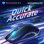 Machenike gaming mouse M2 RGB backlight mouse 3200 DPI mouse gamer 95g 4 light effects mouse