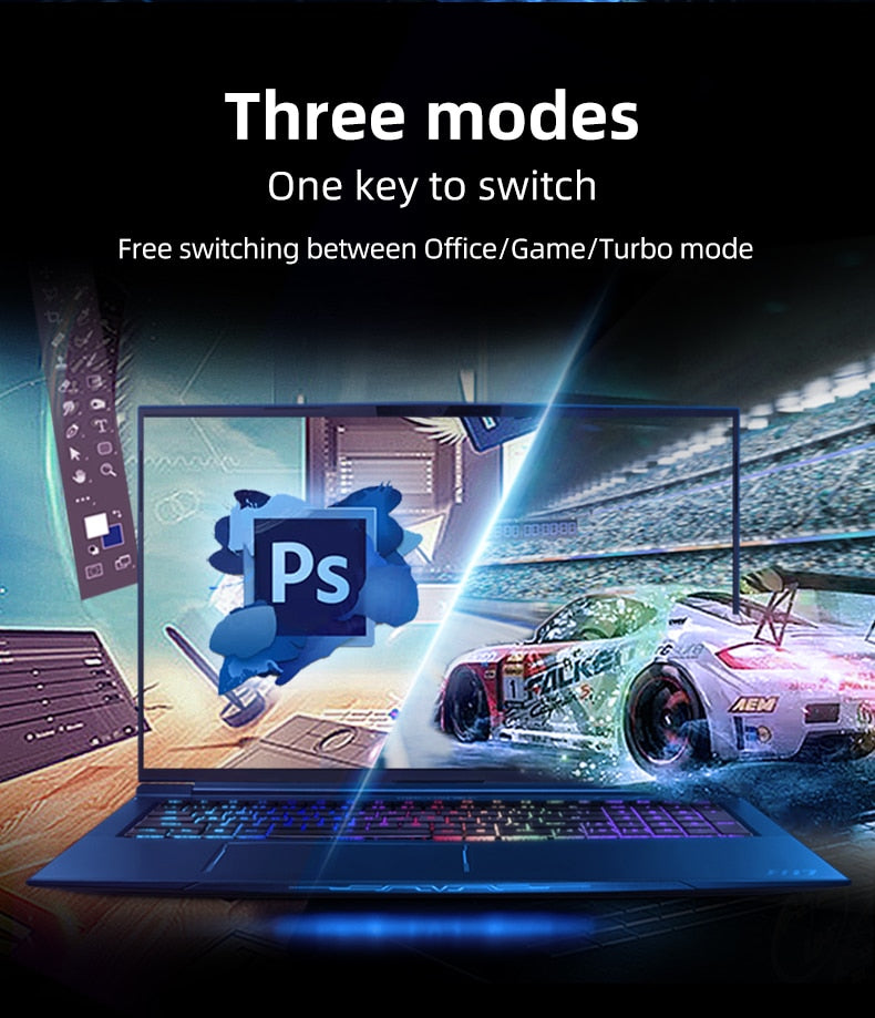 Machenike Gaming laptop F117-FPQ RTX2080 Super MAX-Q i7 laptops 10875H 32G 512GSSD 2THDD WiFi6 17.3'' 240Hz RGB Keyboard Face ID