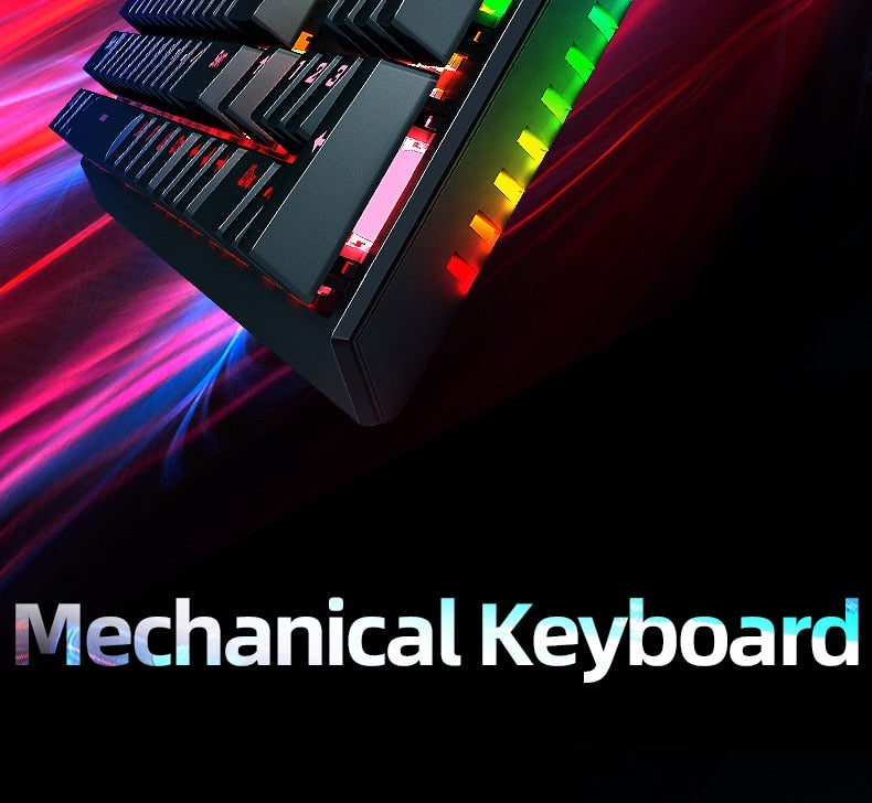 Machenike K31 Wired Mechanical Keyboard 104 keys Blue Switch RGB Gaming Keyboard Full key without punch