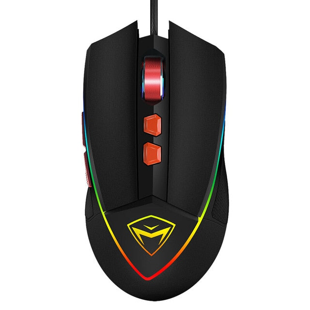 Machenike M5 blue gaming mouse RGB backlight for laptop notebook desktop computer office 7 keys driver mouse gaming
