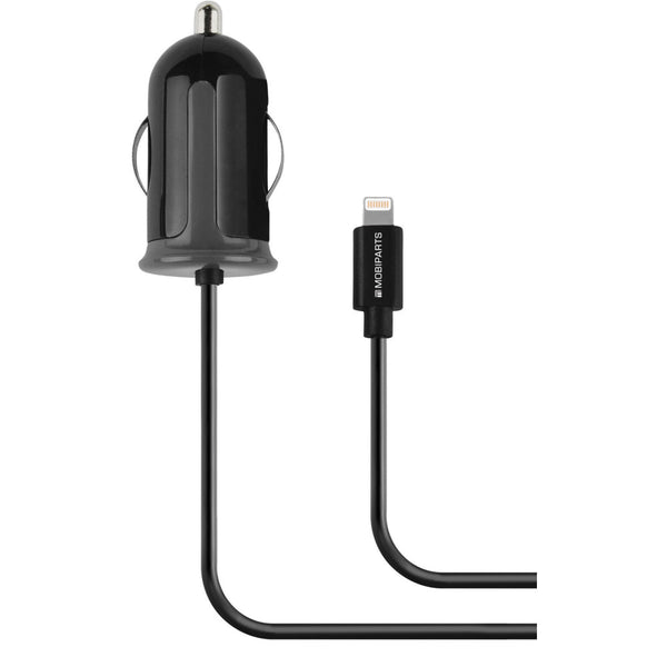 Mobiparts Car Charger Apple Lightning 2.4A - Zwart - ReparatieCenter.nl
