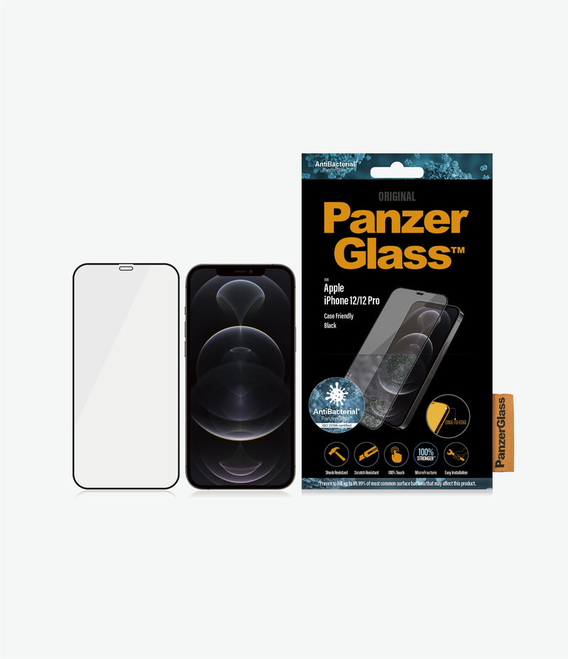 PanzerGlass Apple iPhone 12/12 Pro - Black Case Friendly - ReparatieCenter.nl