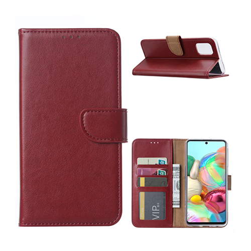 Mobicase Samsung Galaxy A71 Wallet Book Case - Wijnrood - ReparatieCenter.nl
