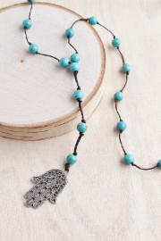 Turquoise Hasma Necklace - BOMSHELL BOUTIQUE