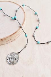 Turquoise Sand Dollar Necklace - BOMSHELL BOUTIQUE