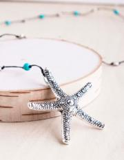 Turquoise Starfish Necklace - BOMSHELL BOUTIQUE