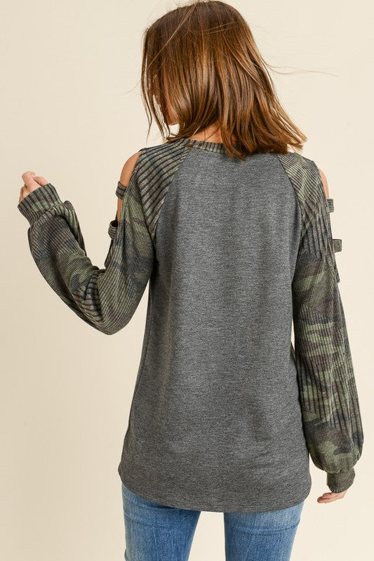 Kasey Camo Top