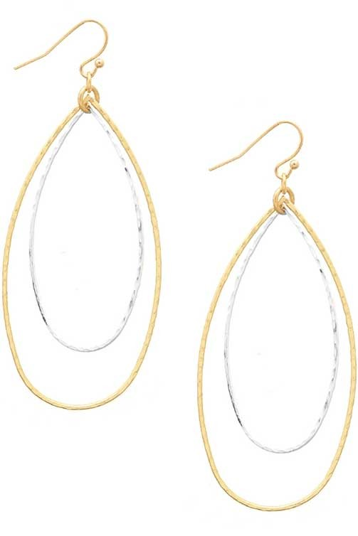 Double Teardrop Earring - BOMSHELL BOUTIQUE