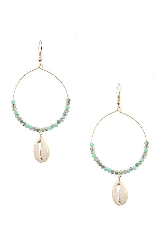 Cowrie Shell Earrings - Mint - BOMSHELL BOUTIQUE