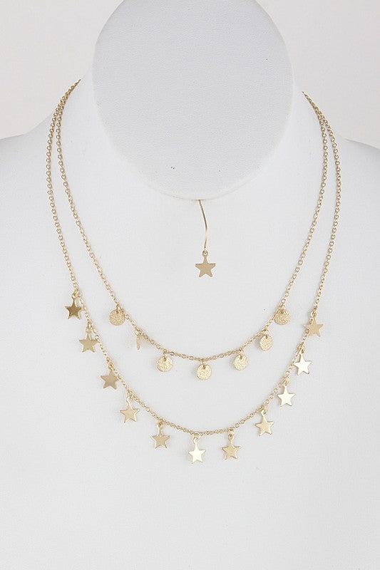Layered Star Necklace - BOMSHELL BOUTIQUE