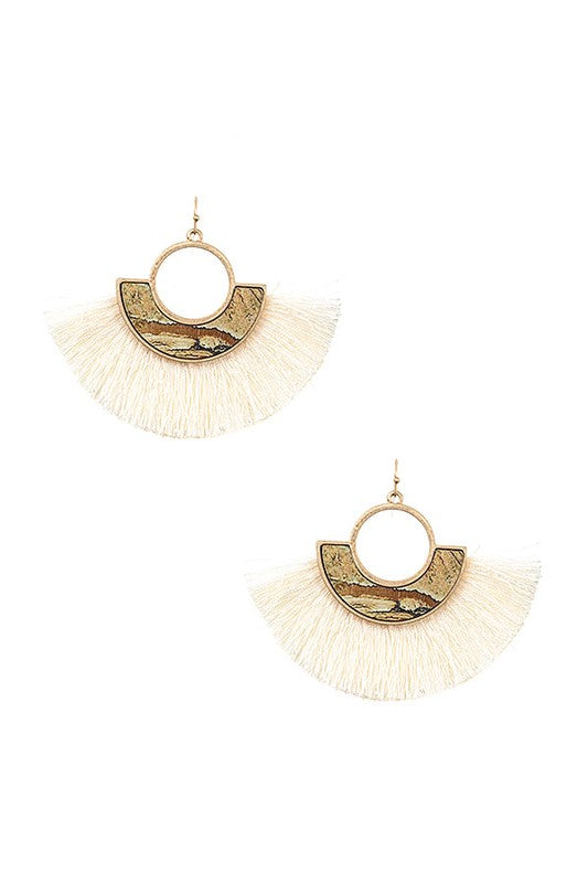 Ren Tassel Earrings - Jasper - BOMSHELL BOUTIQUE