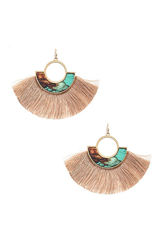 Ren Tassel Earrings - Turquoise - BOMSHELL BOUTIQUE