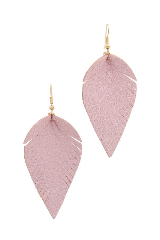 Fray Pointed Drop Earrings in Pink - BOMSHELL BOUTIQUE