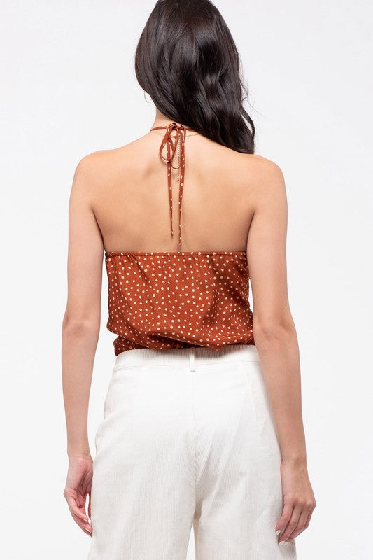 Camilla Halter Bodysuit in Rust - BOMSHELL BOUTIQUE