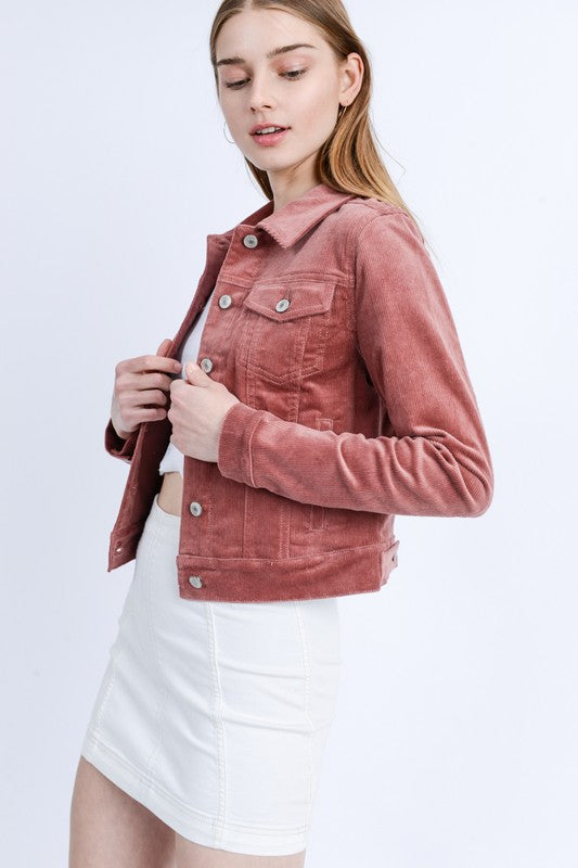 Corduroy Crop Jacket - BOMSHELL BOUTIQUE