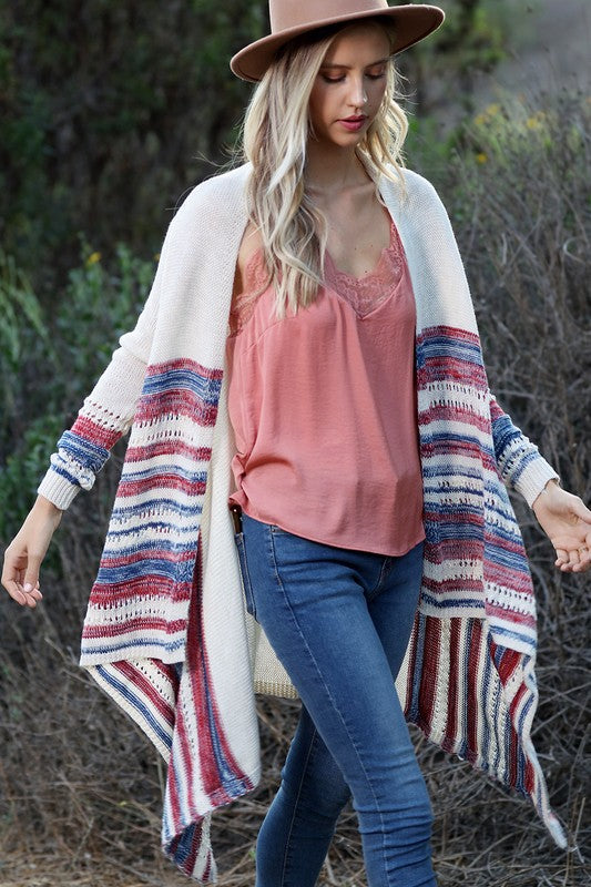 In Stripes Knit Cardigan
