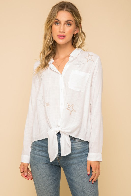 Star Daze Embroidered Top