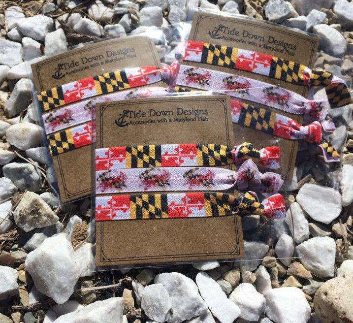 Maryland pride hair ties - BOMSHELL BOUTIQUE