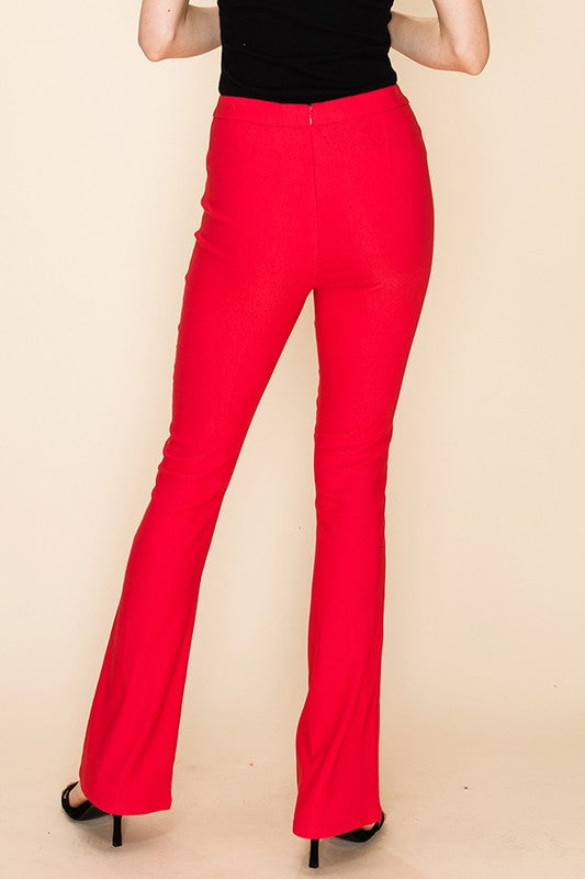 Stevie Bell Bottom Pant in Red - BOMSHELL BOUTIQUE