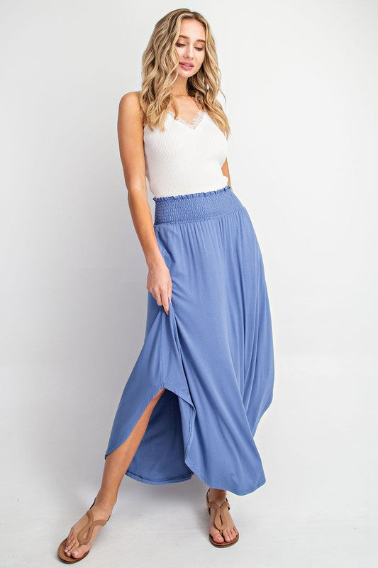 London Love Skirt-Dusty Blue