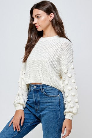 Check Up On It Sweater Ivory - BOMSHELL BOUTIQUE