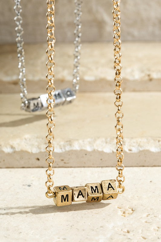 Mama Block Letter Necklace - Other Colors