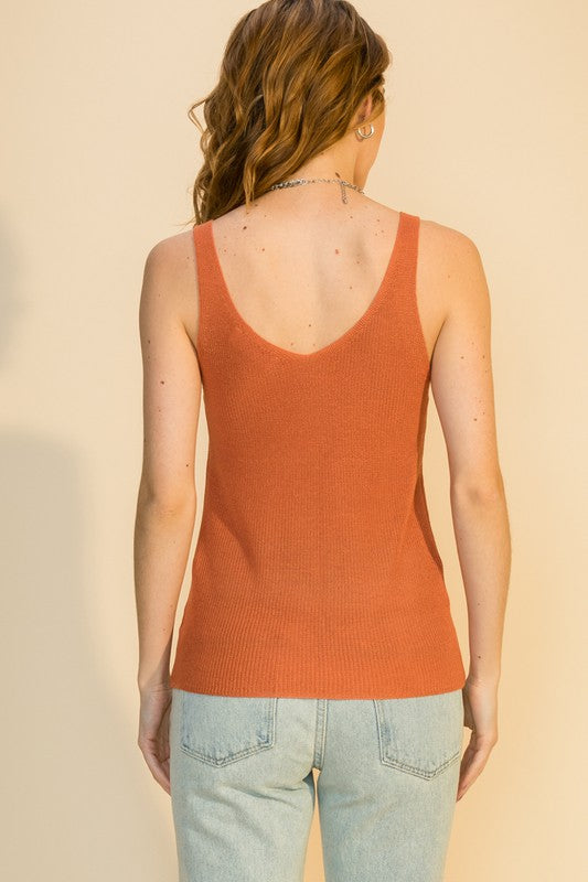 Adriana Tank Top- Copper