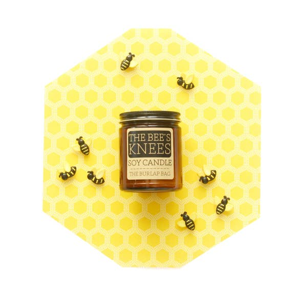The Bee's Knees Soy Candle by The Burlap Bag