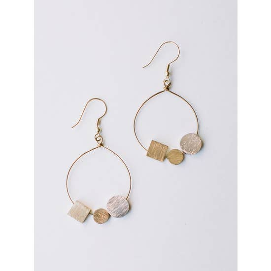 Melodic Stone Gold Earrings - BOMSHELL BOUTIQUE